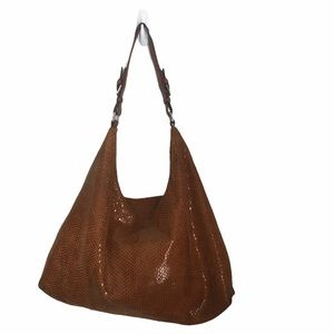 Sorial Shoulder Snakeskin Hobo Bag